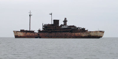 Old Hannibal Target Ship Chesapeake Bay